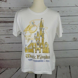 Disney Authentic Original Sz L White Women's shirt